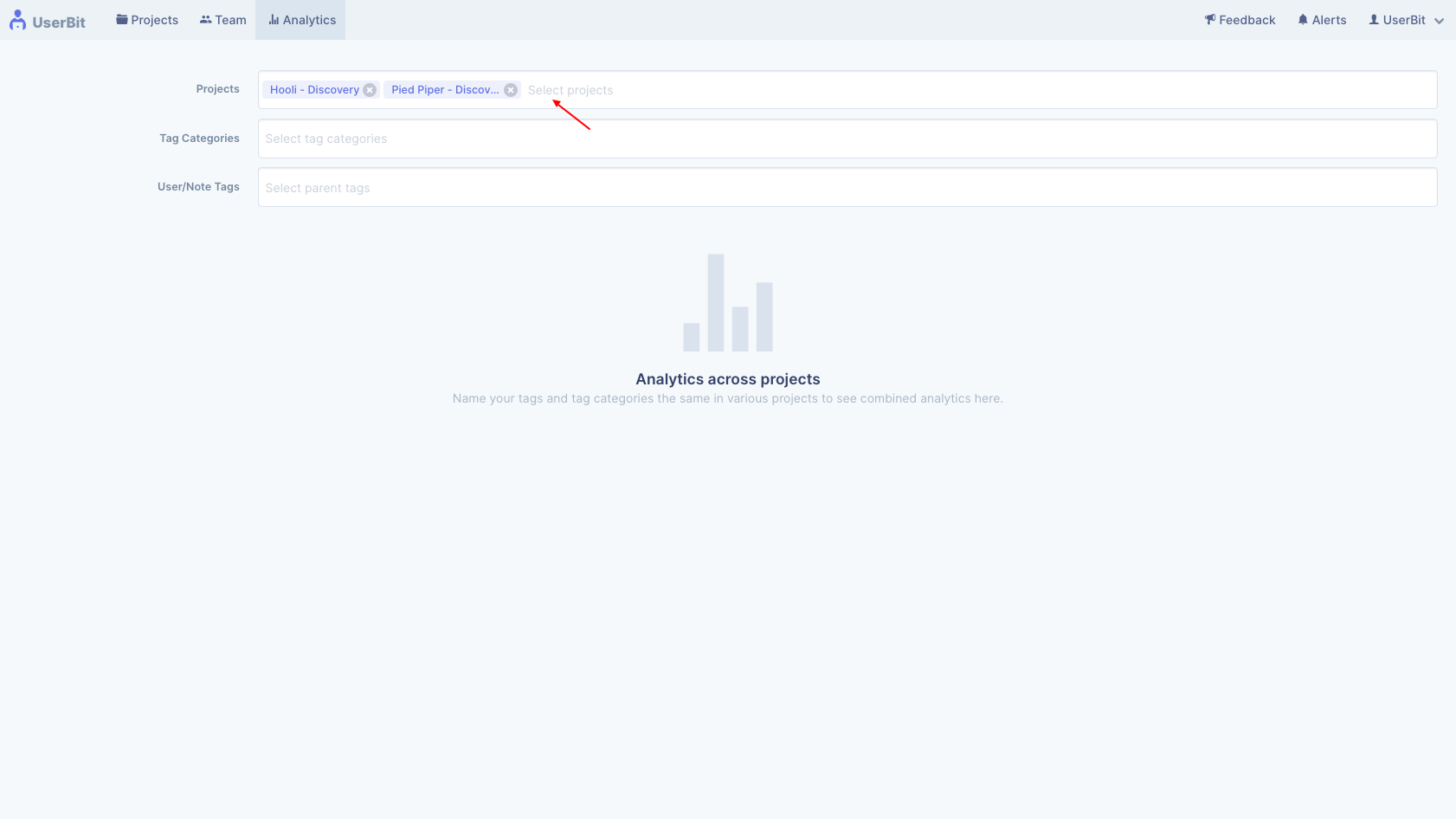 UserBit global analytics screenshot