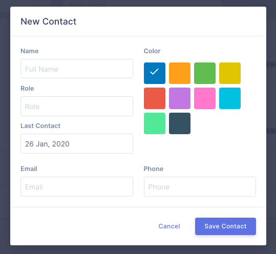 Add new global contact on UserBit