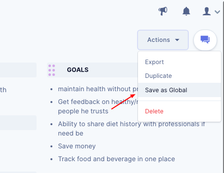 Save existing personas into global space on UserBit