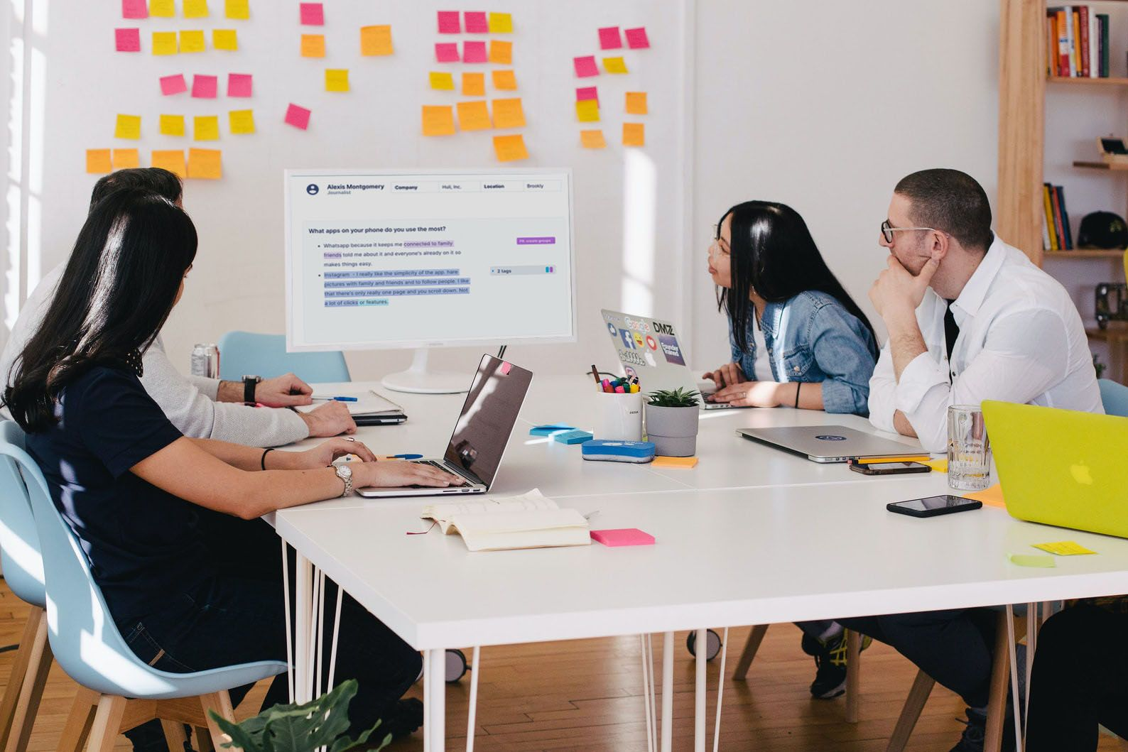 Share analyzed user interviews with stakeholders