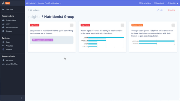 Organize your UX research insights into groups