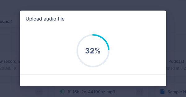 Upload and organize UX research audio and video