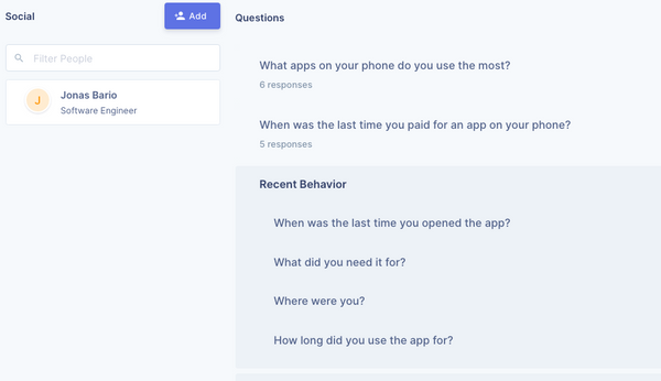 Creating question groups for your user interviews is finally here!